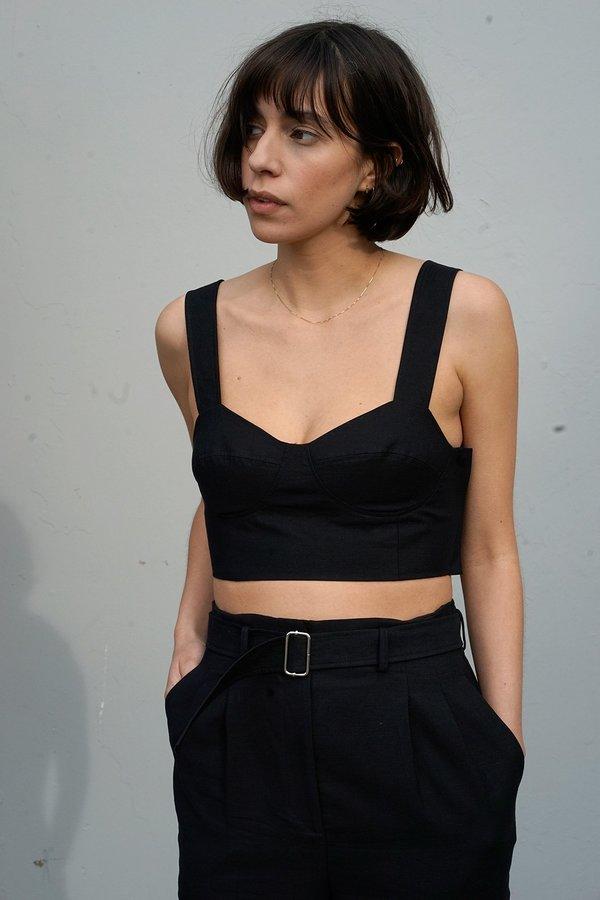 Waltz Bralette Top in Black