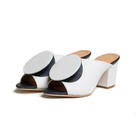 The Palatines Shoes Salio Mule - Lunar White