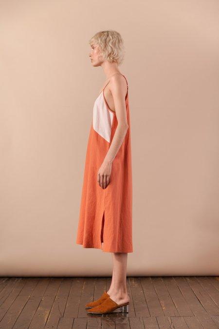 House Dress Orange Slip Dress