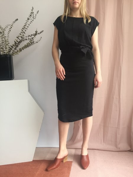 Eve Gravel Toi Et Moi Dress - Chanvre Noir