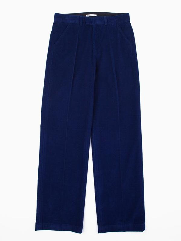 Our Legacy Chino 24 Baby Cord Pant - Royal Blue