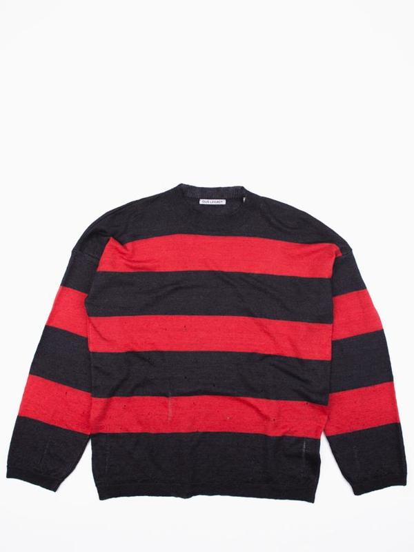 Our Legacy Popover Drop Knit Sweater - Stripe Moth
