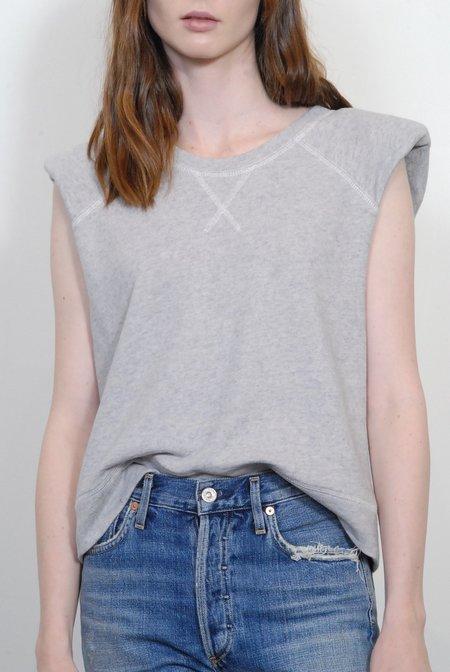 Smythe Shoulder Pad Raglan Sweatshirt - Heather Grey