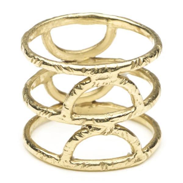 Odette New York Odette Crescent Spine Ring - Brass