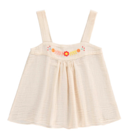 Kids Hundred Pieces Bohemian Top - Vanilla