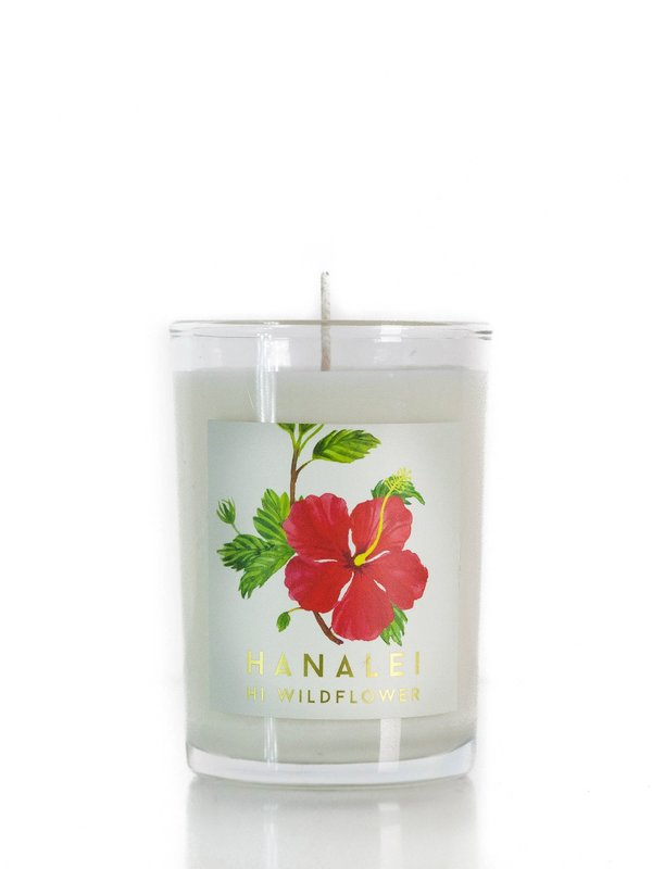 Hi Wildflower Botanica Hanalei 8 oz. Soy Perfume Candle