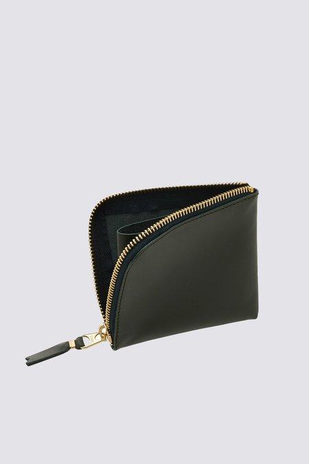 Comme des Garçons Leather SA3100 Half Zip Wallet - Bottle Green