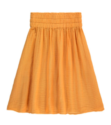 Kids Hundred Pieces Gauze Maxi Skirt - Honey