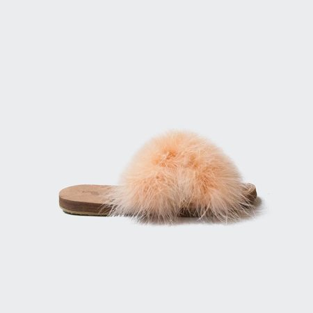 Brother Vellies Marabou Lamu Sandal - Melon