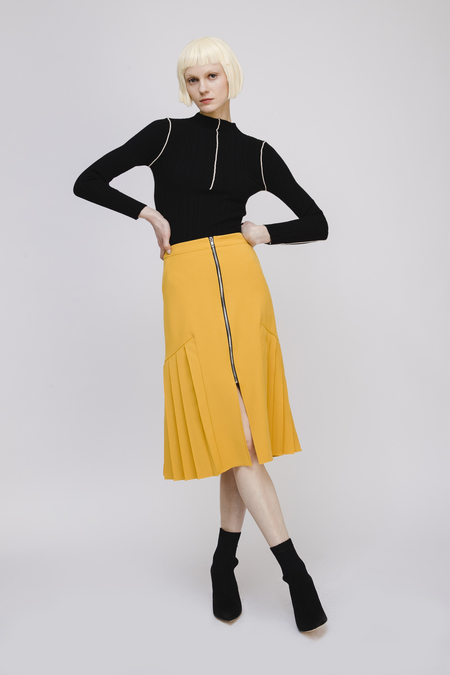 ff966763eab49e Opusion Knit Top with Contrasting Piping ...
