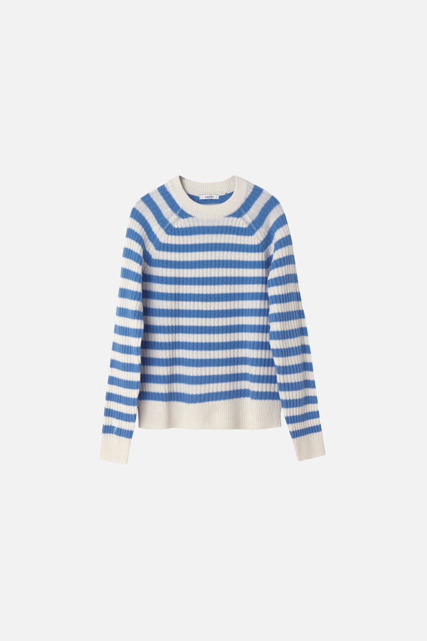 Ganni Mercer Striped Pullover - Vanilla Ice