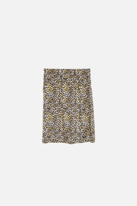 Monique van Heist Silk Pencil Skirt - Animal Print