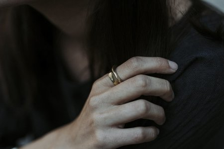 Uni Jewelry Fragment Statement Ring - Brass