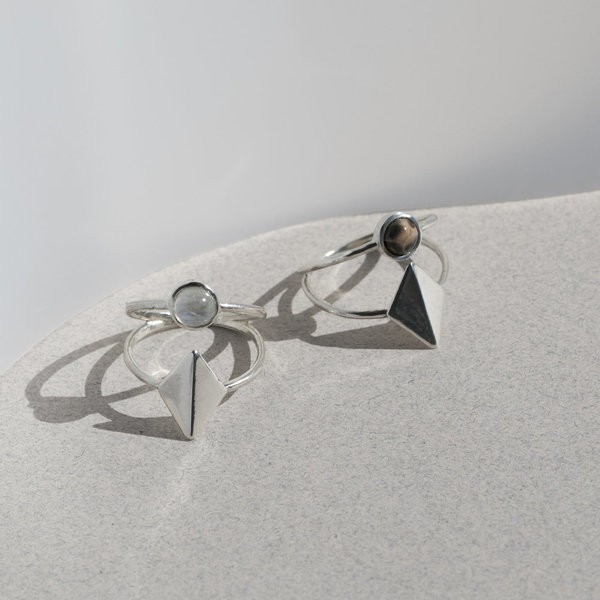 Lindsay Lewis Dia Ring - Sterling Silver