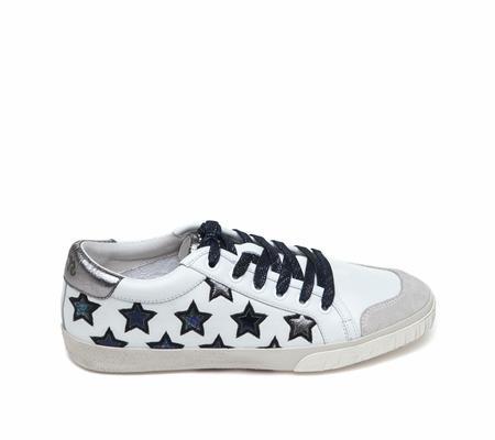 Ash Majestic White Chrome Leather Sneaker