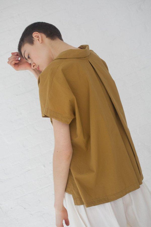 Black Crane Box Shirt - Mustard