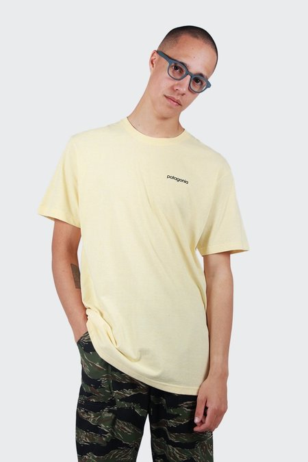 Patagonia Line Logo Badge Responsibili-Tee -T-Shirt - Crest Yellow