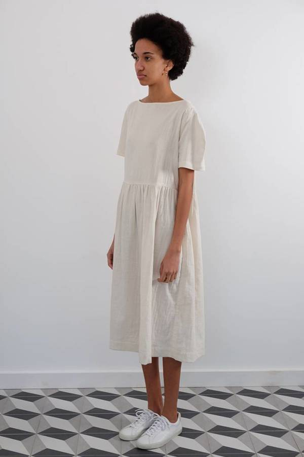 wrk-shp Cotton Double Gauze Summer Dress