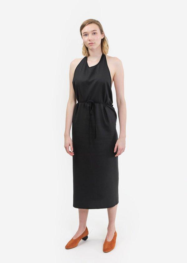 Baserange Raw Silk Apron Dress