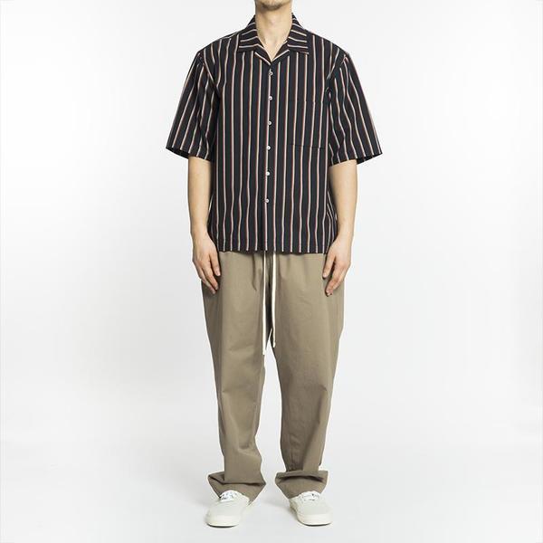 S.K. Manor Hill Aloha Shirt - Navy/Orange Stripe