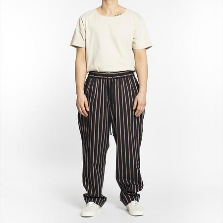S.K. Manor Hill Coma Pant - Navy/Orange Stripe