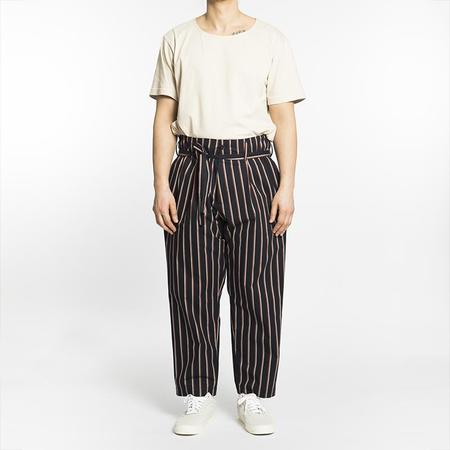 S.K. Manor Hill Olivier Pant - Navy/Orange Stripe