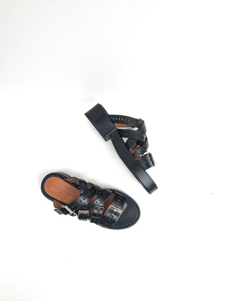 CLERGERIE Fantom multi strap platform sandals