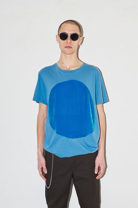 unisex Correll Correll Velvet Circle T-shirt - Blue