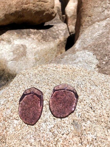 Julie Thevenot Reflection Earrings - Mauve