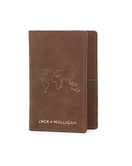 Jack + Mulligan Passport Wallet - Brown