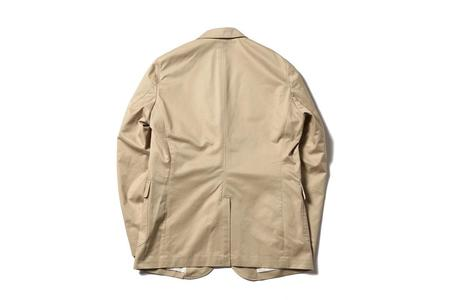 Beams + Three Button Twill Jacket - Beige