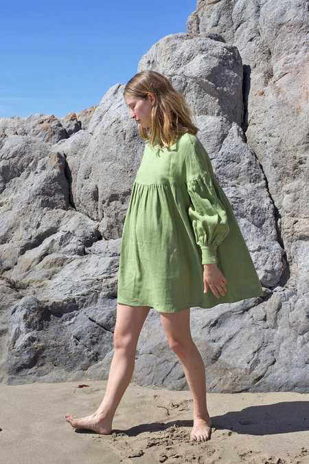 Salima Dress - Saguaro Green