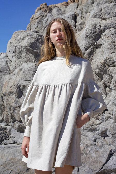 Salima Dress - Edwardian Herringbone