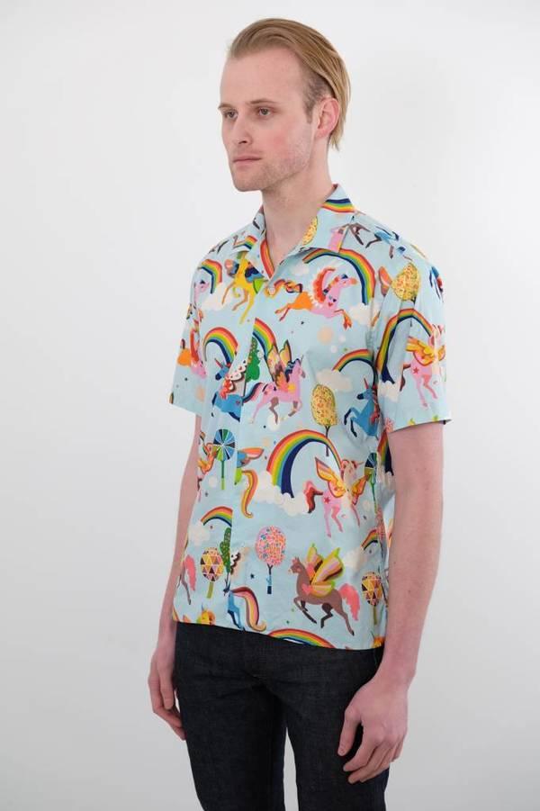 Gitman Vintage Short Sleeve Magic Rainbow Shirt