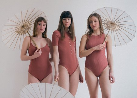 The Bodysuit of Barcelona The Tessa Bodysuit - Marsala