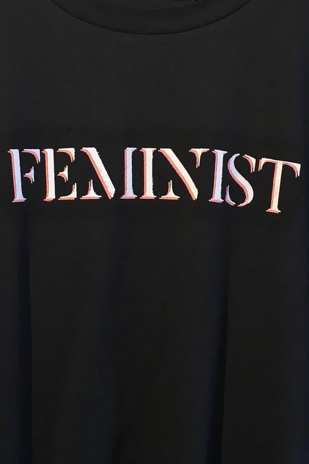 chrldr 'Feminist' Boyfriend Tee - Black