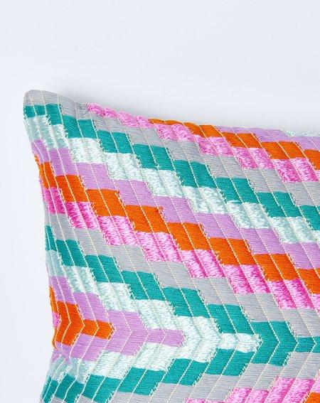 Archive New York Almolonga Zig Zag Pillow in Orange Multi