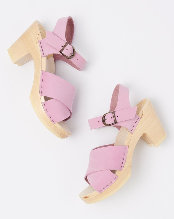 No.6 Coco Cross Front Sandal on High Heel - Violet