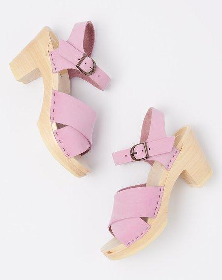 No.6 Coco Cross Front Sandal on High Heel - Violet