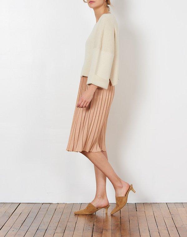 HESPERIOS Giselle Skirt in Peach Metallic