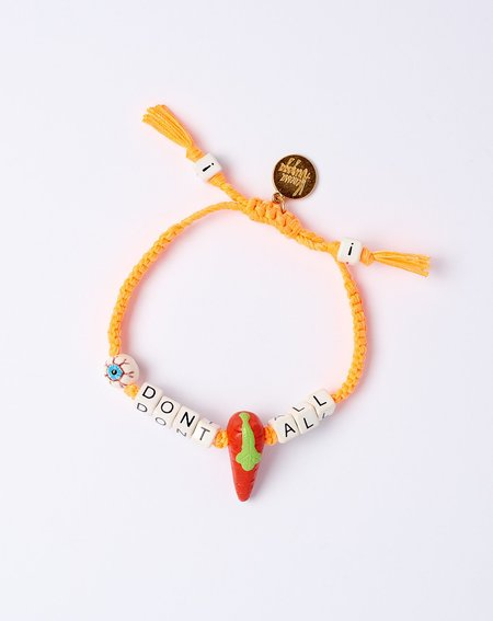 Venessa Arizaga I Don't Carrot All Bracelet - orange