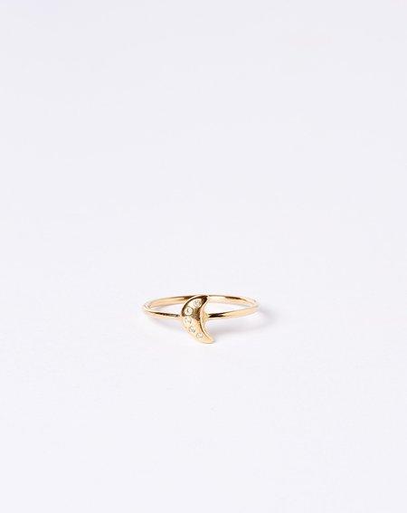 Scosha Tiny Moon Ring - Gold