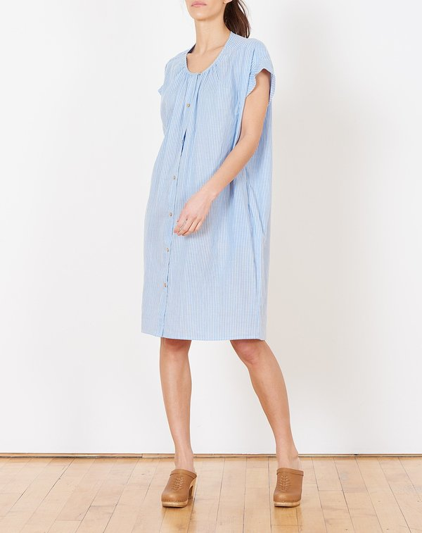 Caron Callahan Wayward Dress - Blue Stripe Gauze