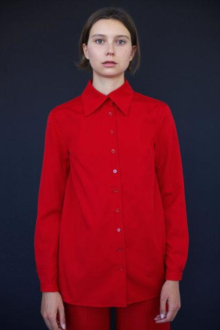 Town Angela Work Shirt - Red