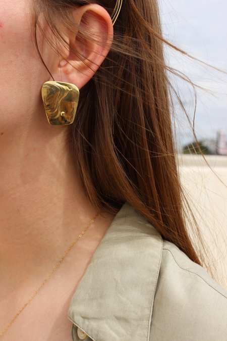 Leigh Miller Brass Splatter Earrings
