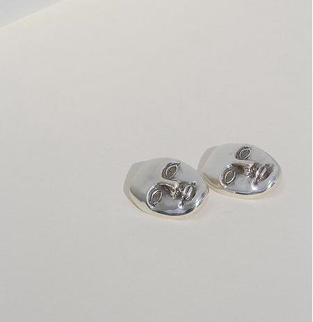 Mondo Mondo face earrings - sterling silver