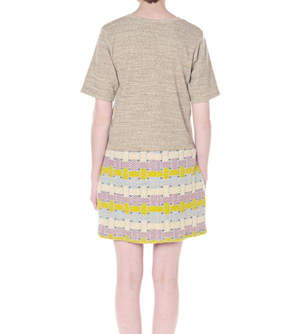 Calla Tweed Peplum Dress