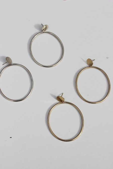 Avenue medallion hoop earring