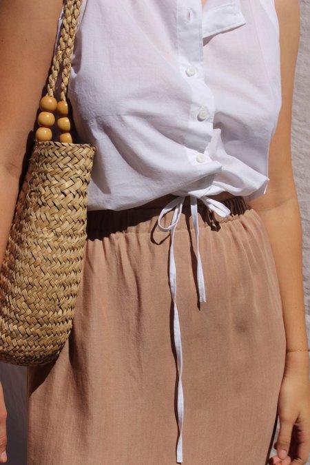 Avenue side slit skirt