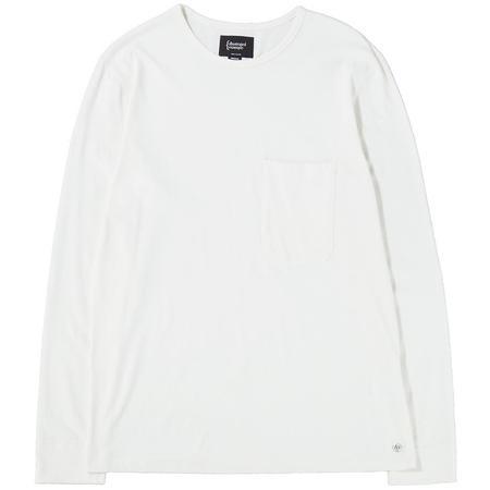 {ie Long Sleeve Pocket T-Shirt - Vanilla
